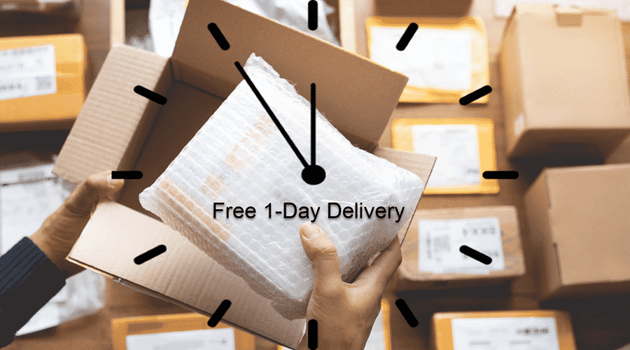How to offer free 1-day shipping